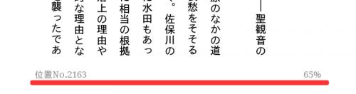 """Kindle 本における""""位置 No.""""と""""進捗率"""""""