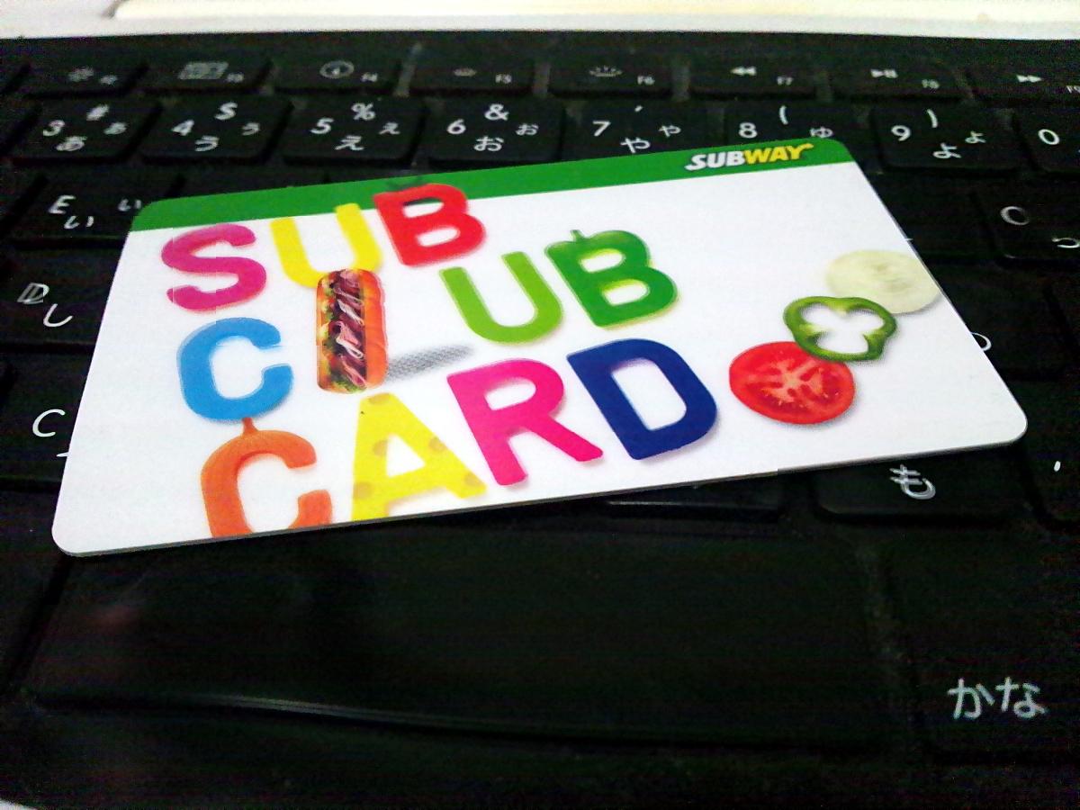 SUB CLUB CARD 作った