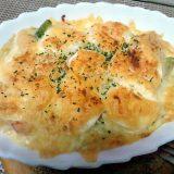 アスパラガスと海老とゆで卵のグラタン(2013/06/24)