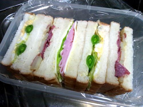 今日のサンドイッチ(2014/03/31)