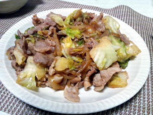 スタミナ源たれで肉野菜炒め