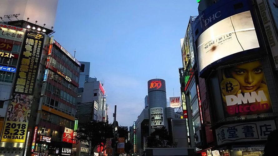 夕焼けの渋谷
