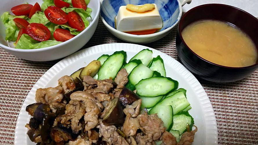 豚肉と茄子の南蛮味噌炒め(2018/06/18)