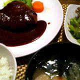 ハンバーグステーキ定食@せきぐち亭