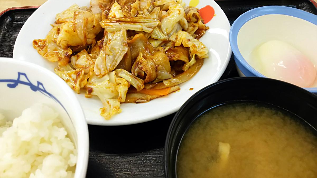 松屋の回鍋肉定食