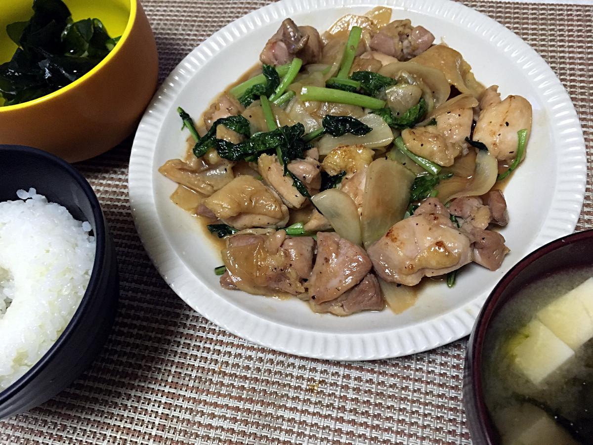 鶏肉とかぶの甘辛炒め