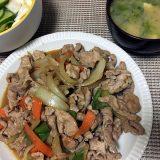 豚肉と野菜の味噌ダレ炒め(2018/07/16)