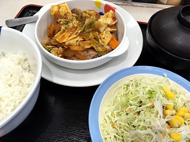 ケイジャンチキン定食@松屋