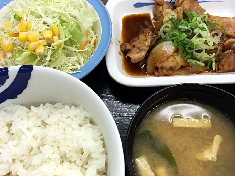 鶏のバター醤油炒め定食@松屋
