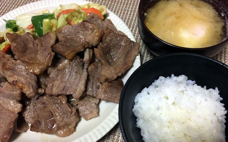 焼き肉を晩ごはんにした