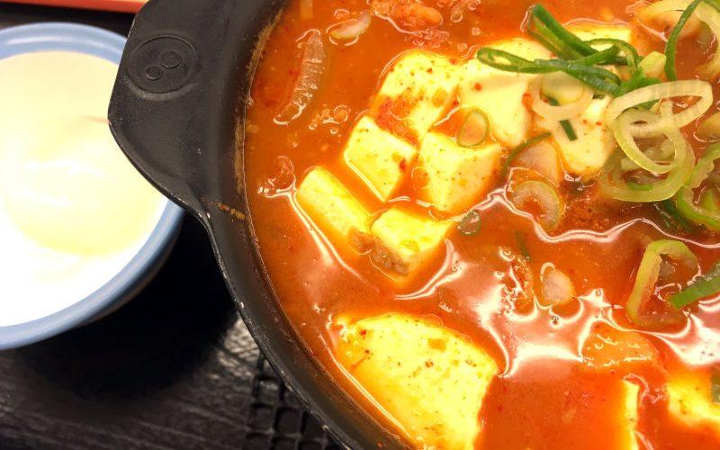 豆腐キムチチゲ鍋膳@松屋