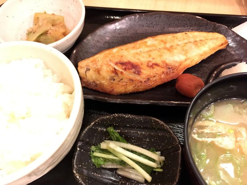 サバの塩焼き定食@笑助