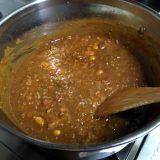 ひき肉と茄子とサラダ豆とトマトのカレー