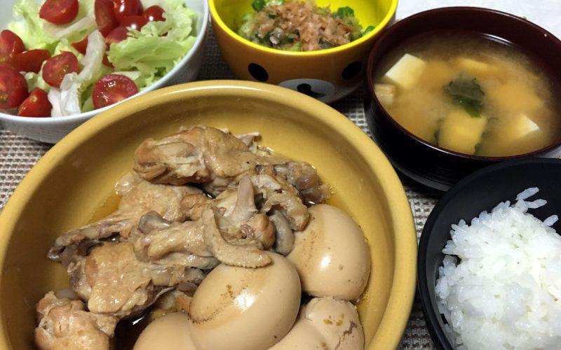 手羽元とゆで卵の煮物@圧力鍋(2019/05/18)