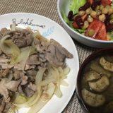 豚肉の生姜焼き(2019/06/26)