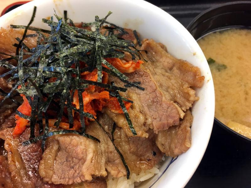 キムカル丼(お肉1.5倍)@松屋