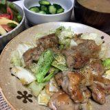 鶏もも肉とキャベツのガーリック炒め(2019/07/09)