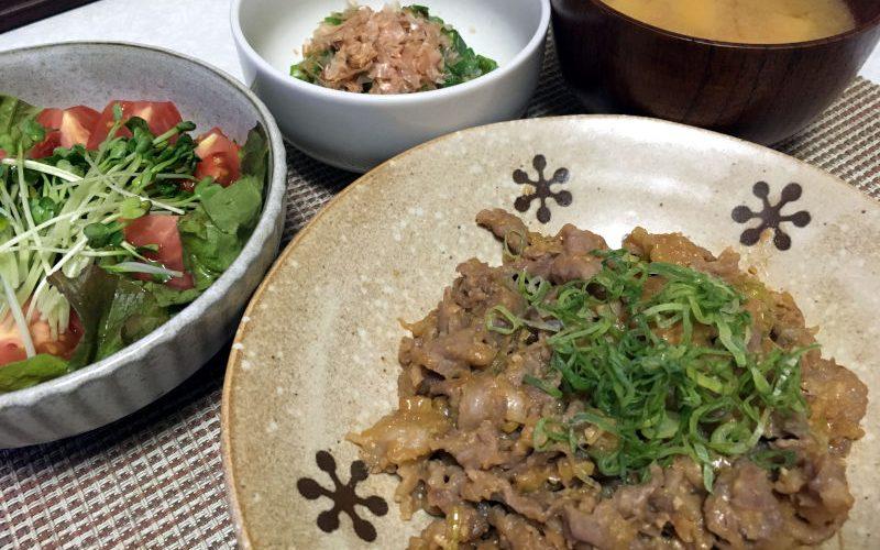 豚こま肉のねぎ味噌炒め(2019/07/10)
