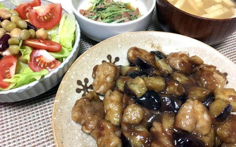 鶏もも肉と茄子の酸っぱ煮(2019/07/20)