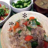 豚こま肉と野菜のオイスターソース炒め(2019/07/26)