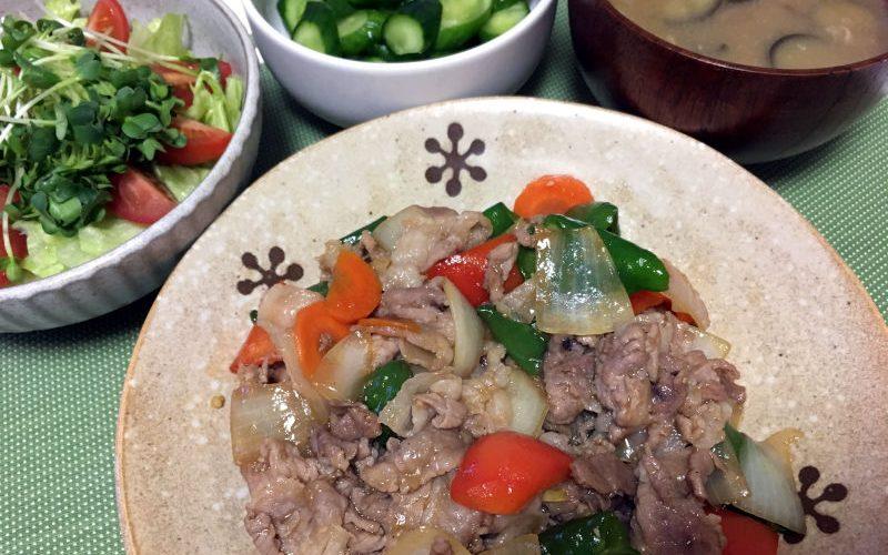豚こま肉と野菜のオイスターソース炒め