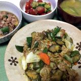 豚バラ肉と野菜のカレー炒め(2019/07/28)