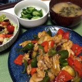 鶏もも肉のチリソース炒めエスニック風(2019/08/19)