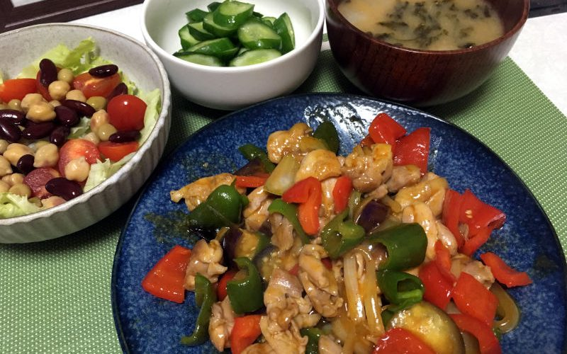鶏もも肉のチリソース炒めエスニック風