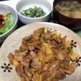 豚こま肉と長芋の甘辛豆板醤炒め