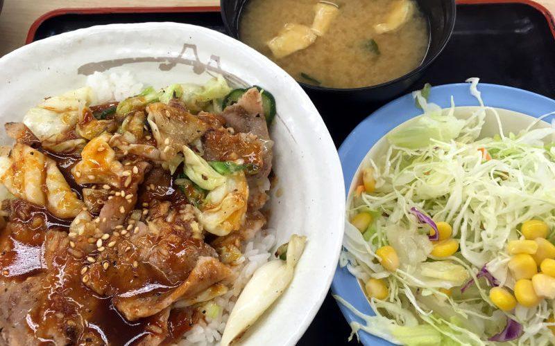 塩キャベツ豚丼@松屋