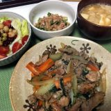 豚こま肉の野菜炒め(2019/09/07)