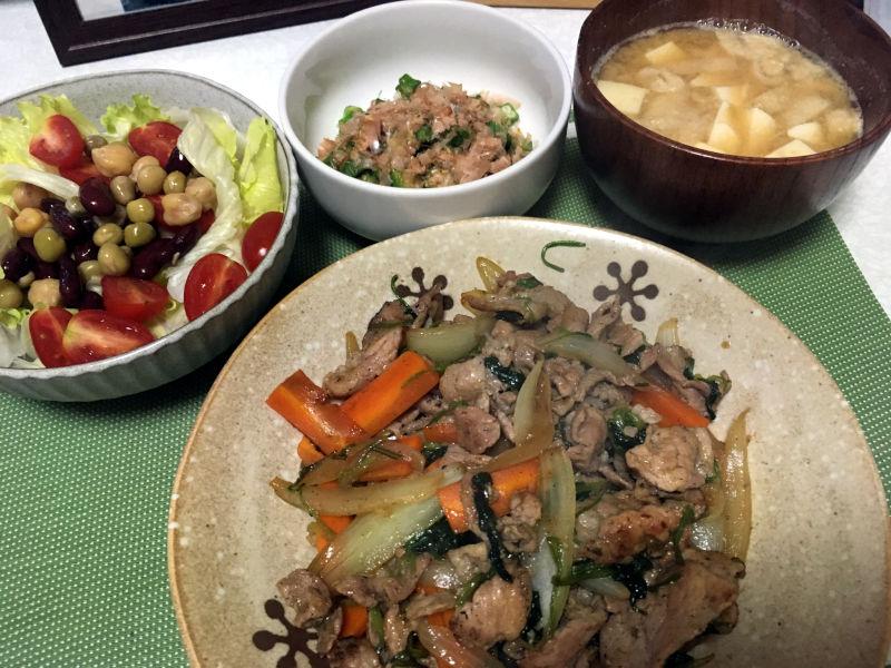 豚こま肉の野菜炒め