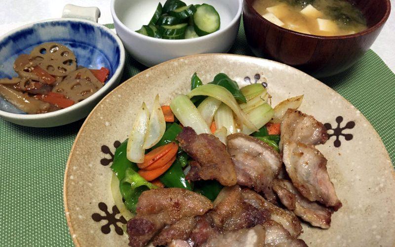 豚バラ肉で焼肉(2019/09/25)