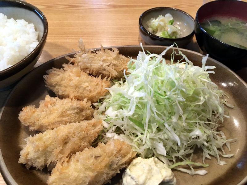 カキフライ定食@地元とんかつ屋