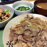 豚ロース肉の生姜焼き(2019/10/17)