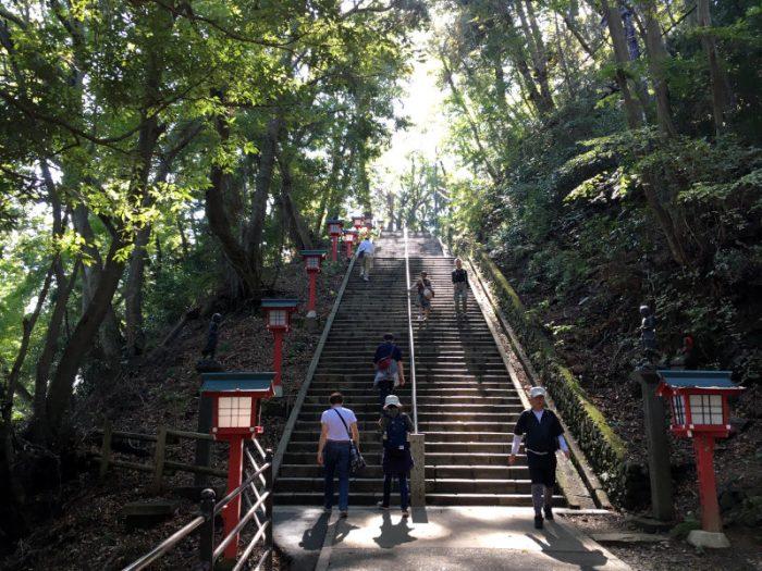 108段の階段がある『男坂』