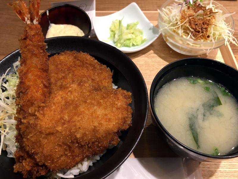 合もり丼ランチセット@新潟カツ丼 タレカツ