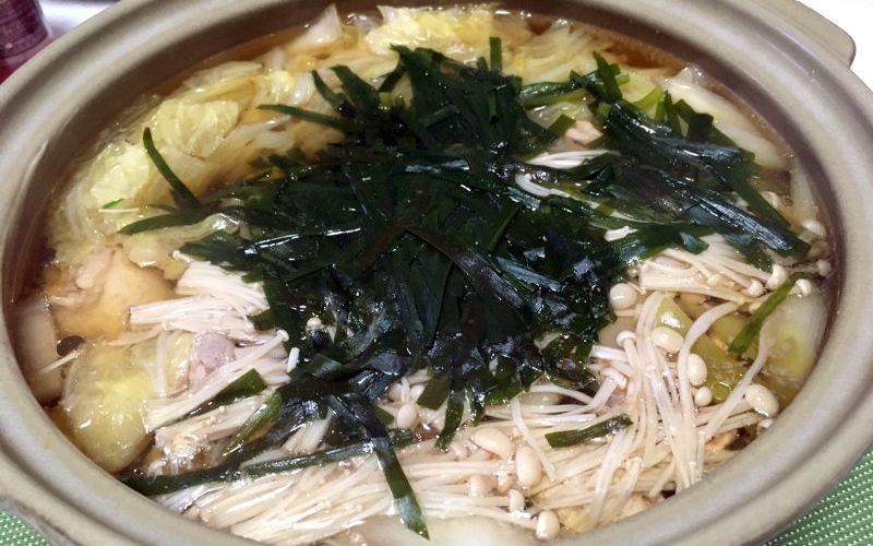 醤油風味の寄せ鍋(2019/11/06)