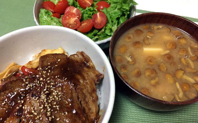 牛カルビ焼肉丼(2019/11/18)