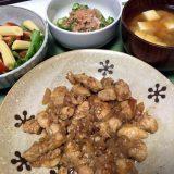 鶏のささみで生姜焼き