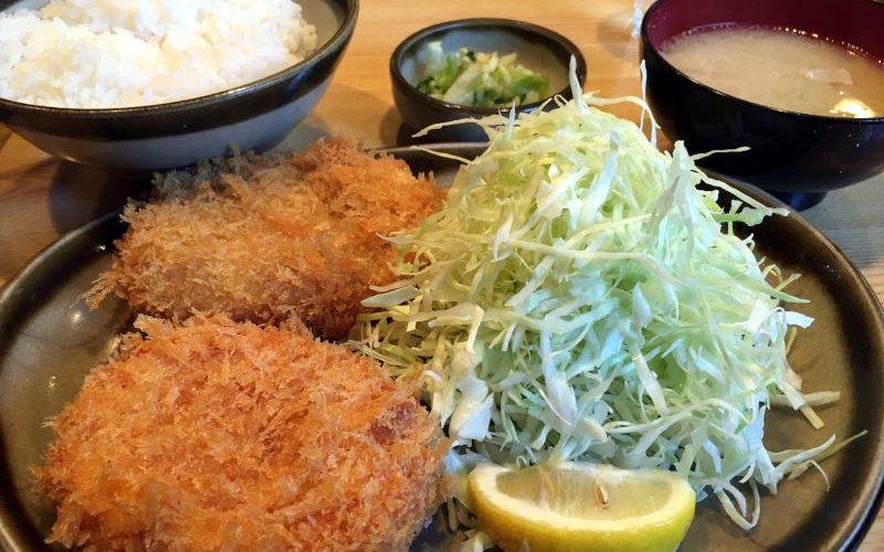 コロッケ定食@地元とんかつ屋