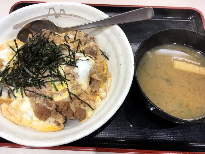 牛とじ丼@松屋
