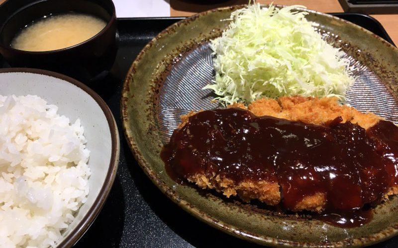 130g味噌かつ定食@とんかつ工房