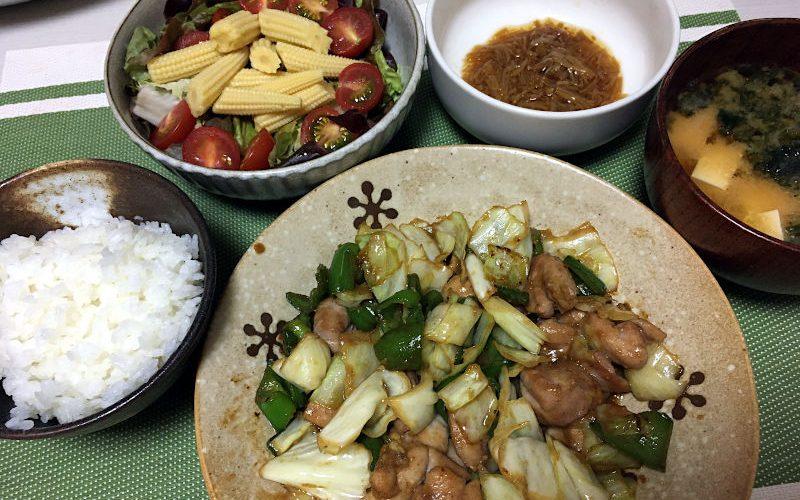 鶏肉と野菜の味噌ダレ炒め