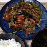 豚肉とアスパラガスのカレー炒め(2020/06/13)
