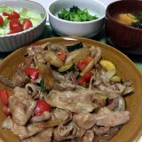豚バラ肉と野菜の味噌ダレ炒め(2020/06/15)