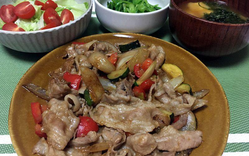 豚バラ肉と野菜の味噌ダレ炒め
