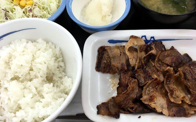カルビ焼肉定食(お肉1.3倍増量)@松屋