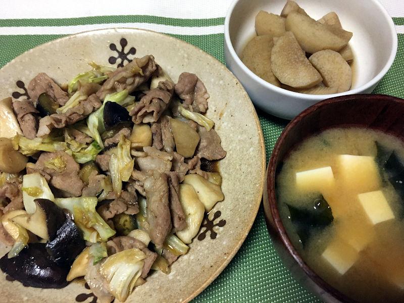 肉野菜のオイスターソース炒め