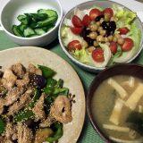鶏肉と茄子とピーマンの豆板醤炒め(2020/07/10)